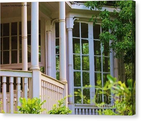 Canvas Print - Charleston Architecture. Old Naval Housing by Lisa Marie Towne