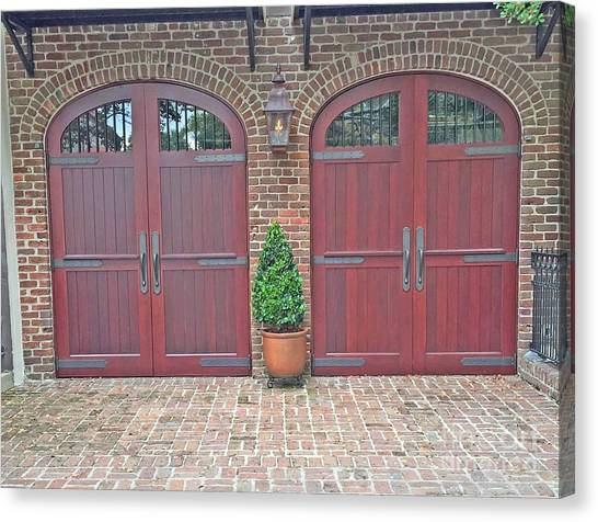 Charleston Doors Canvas Print