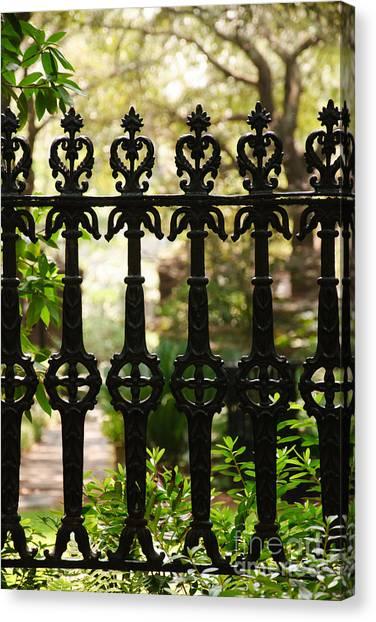 Charleston Fence Canvas Print