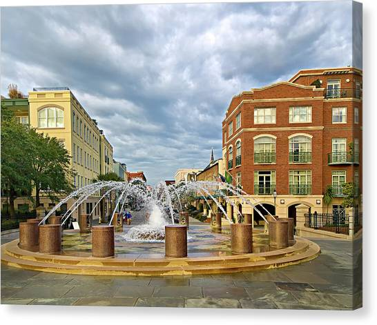 Charleston Fountain Canvas Print