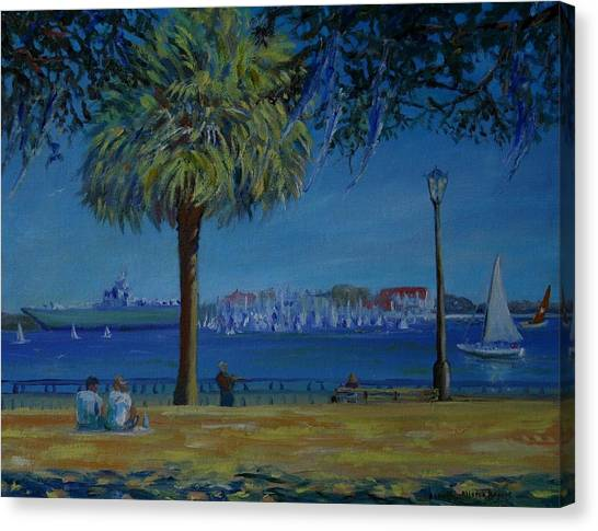 Charleston Harbor Sunday Regatta Canvas Print