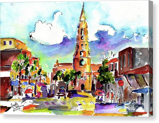 Charleston North Market Street Canvas Print