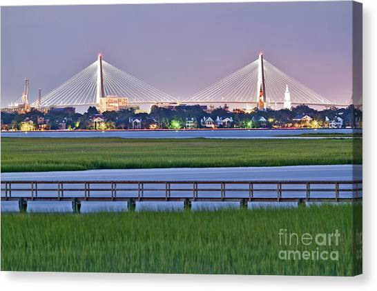 Marshes Canvas Print - Charleston South Carolina Skyline by Dustin K Ryan