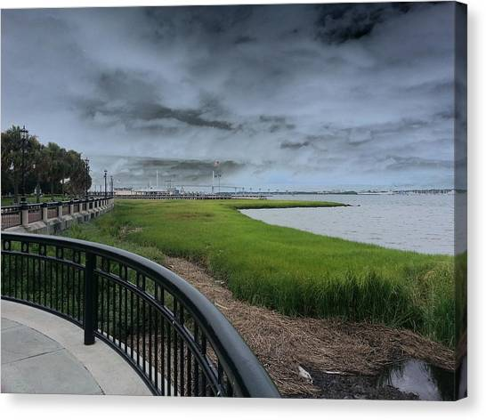 Charleston Waterfront Canvas Print by Chris Short