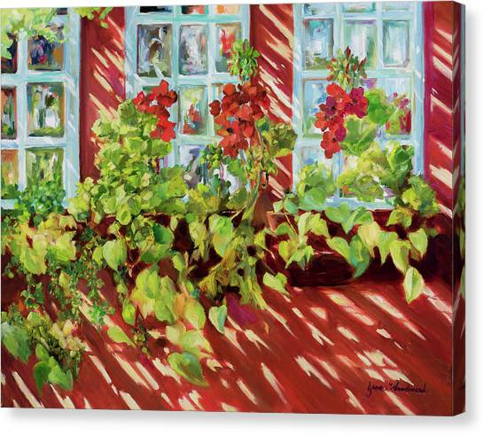 Canvas Print - Charleston Window Boxes by Jane Woodward