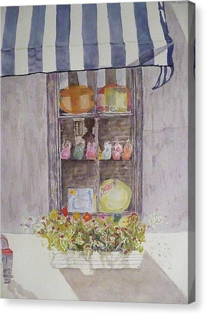 Charleston Window Canvas Print by Stella Schaefer