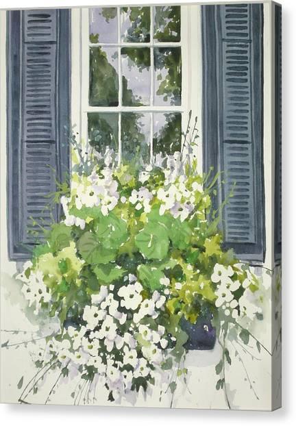 Charleston Windowbox Canvas Print