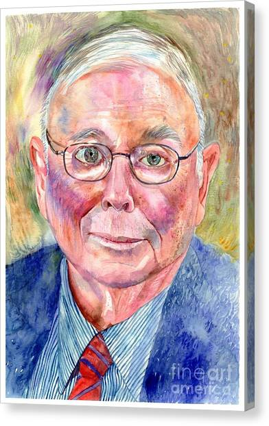 Stanford University Canvas Print - Charlie Munger Painting by Suzann's Art