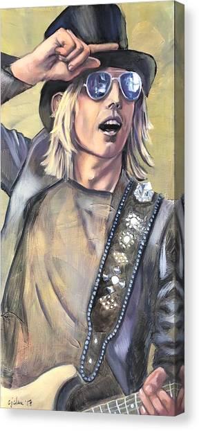 Tom Petty Canvas Print - Charlie T. Wilbury by Christina Clare
