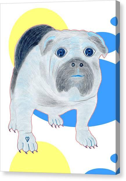 Charlie The Bulldog Canvas Print by Tess M J Iroldi
