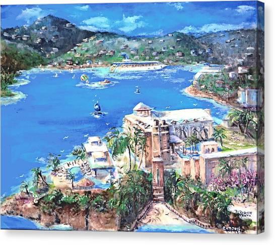 Charlotte Amalie Marriott Frenchmans Beach Resort St. Thomas Us Virgin Island Aerial Canvas Print