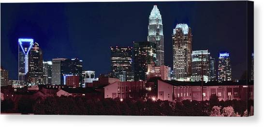 Charlotte Bobcats Canvas Print - Charlotte City Skyline by Frozen in Time Fine Art Photography