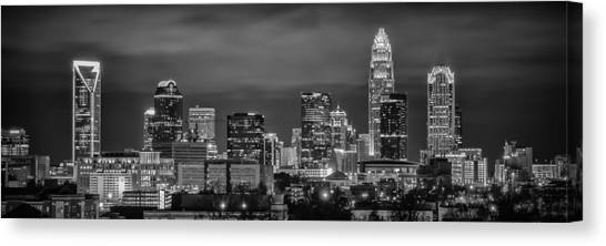 Charlotte Greyscale Canvas Print by Brian Young