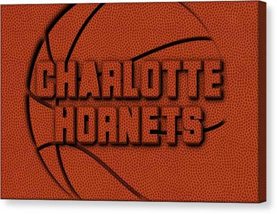 Hornet Canvas Print - Charlotte Hornets Leather Art by Joe Hamilton