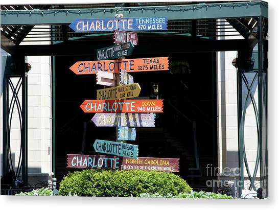 Charlotte Signs Canvas Print