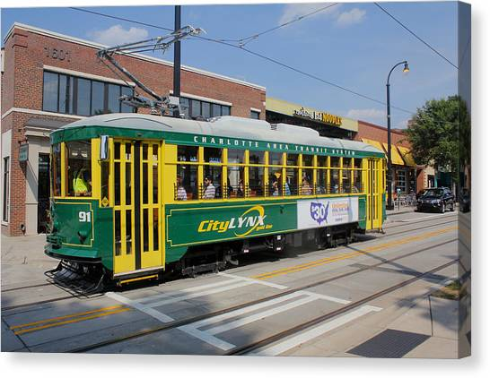 Charlotte Streetcar Line 4 Canvas Print by Joseph C Hinson Photography