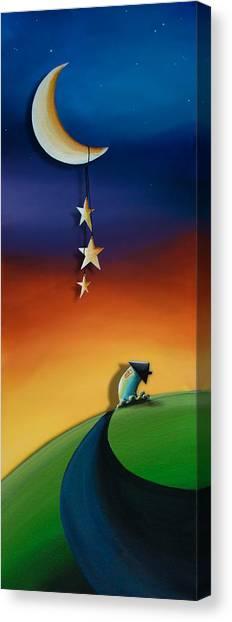 Moon Canvas Print - Charming by Cindy Thornton