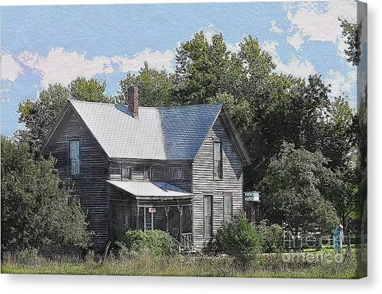 Charming Country Home Canvas Print