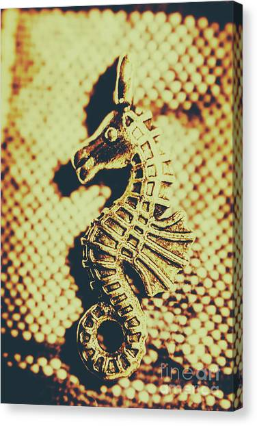 Seahorses Canvas Print - Charming Vintage Seahorse by Jorgo Photography - Wall Art Gallery