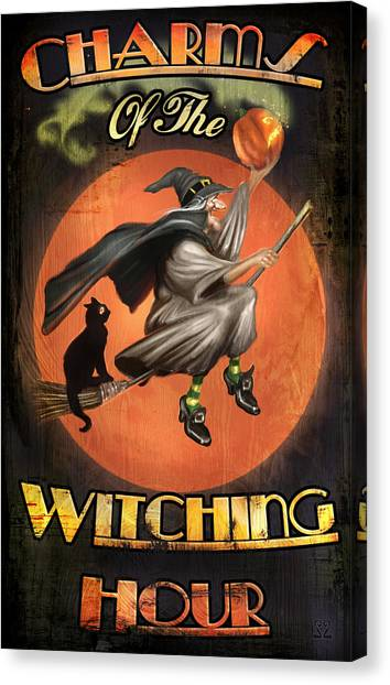 Halloween Canvas Print - Charms Of The Witching Hour by Joel Payne