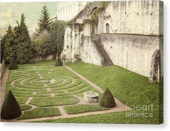 Bishops Canvas Print - Chartres Labyrinth Garden by Juli Scalzi