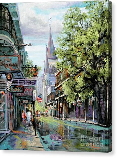 Chartres Rain Canvas Print