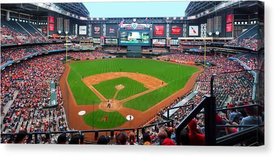 Arizona Diamondbacks Canvas Print - Chase Field 2015 by C H Apperson