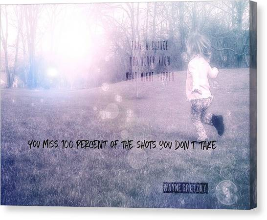 Wayne Gretzky Canvas Print - Chase Your Dreams Quote by JAMART Photography