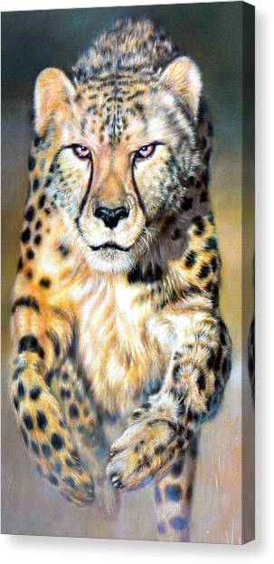 Chaser Canvas Print by Riek  Jonker