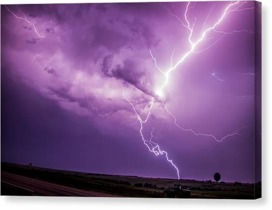 Chasing Nebraska Lightning 018 Canvas Print