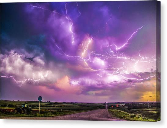 Chasing Nebraska Lightning 056 Canvas Print
