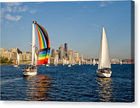 Chasing The Rainbow Canvas Print by Tom Dowd