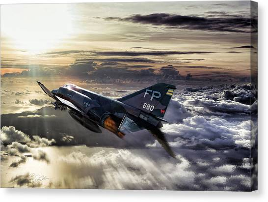 Robin Canvas Print - Chasing The Sun Robin Olds by Peter Chilelli