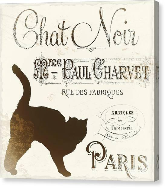 Paris Canvas Print - Chat Noir Paris by Mindy Sommers