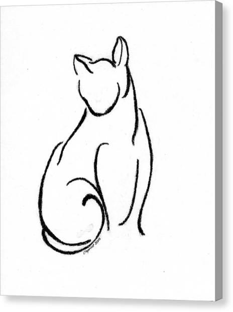 Chat Un Canvas Print by Caprice Scott