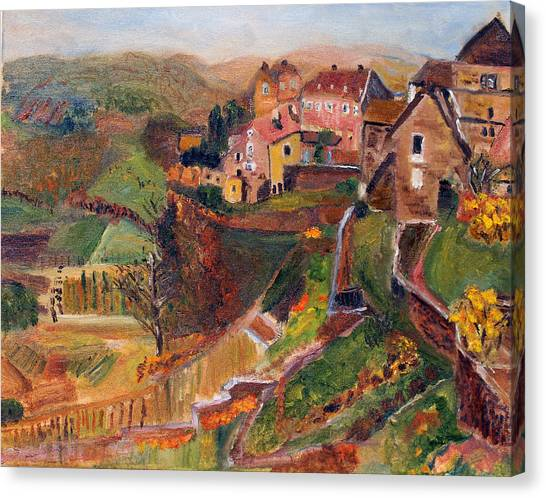Chateau Chalon Canvas Print