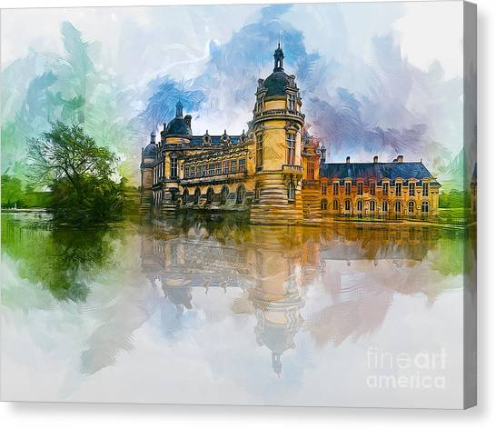 Chateau De Chantilly Canvas Print