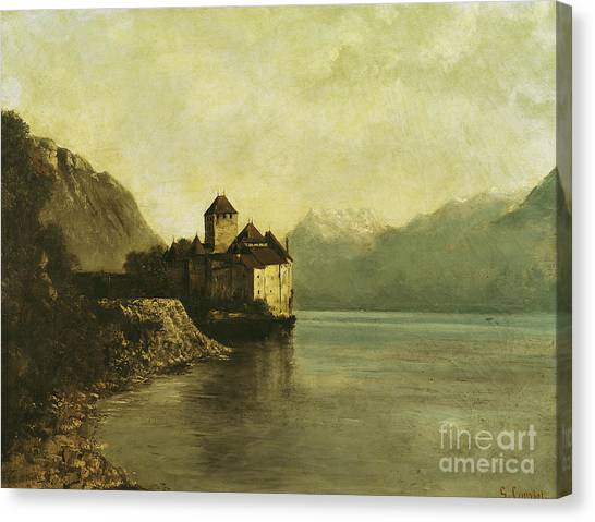 Peaceful Canvas Print - Chateau De Chillon by Gustave Courbet