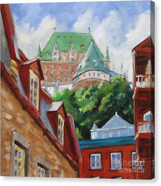 Quebec Canvas Print - Chateau Frontenac by Richard T Pranke