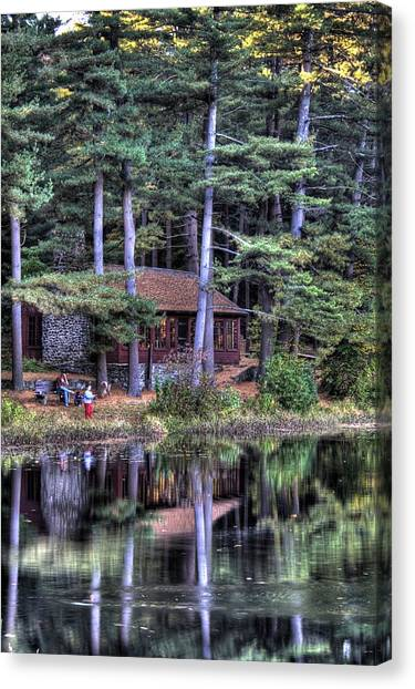 Chatfield Hollow Cabin Canvas Print by Sam Turgeon