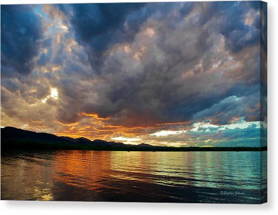 Chatfield Technicolor Sunset Canvas Print