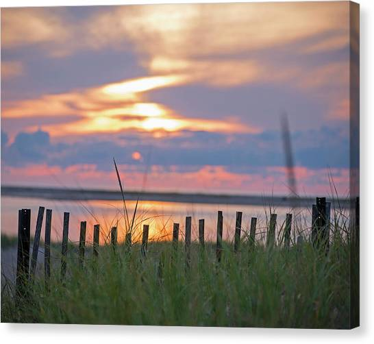Chatham Canvas Print - Chatham Ma Cape Cod Sunrise Fence by Toby McGuire