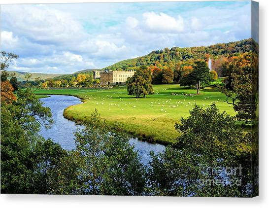 Chatsworth House View Canvas Print