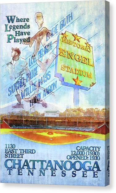 Lou Gehrig Canvas Print - Chattanooga Historic Baseball Poster by Steven Llorca