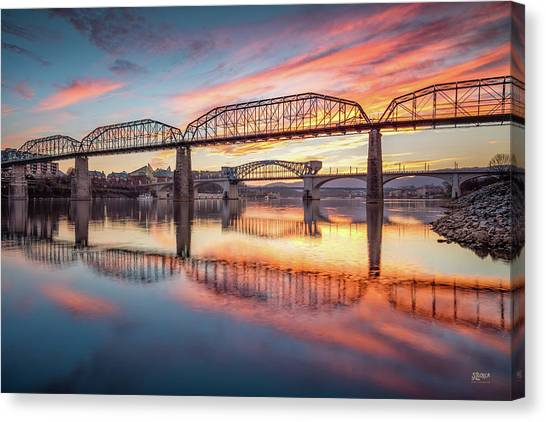 Chattanooga Sunset 5 Canvas Print