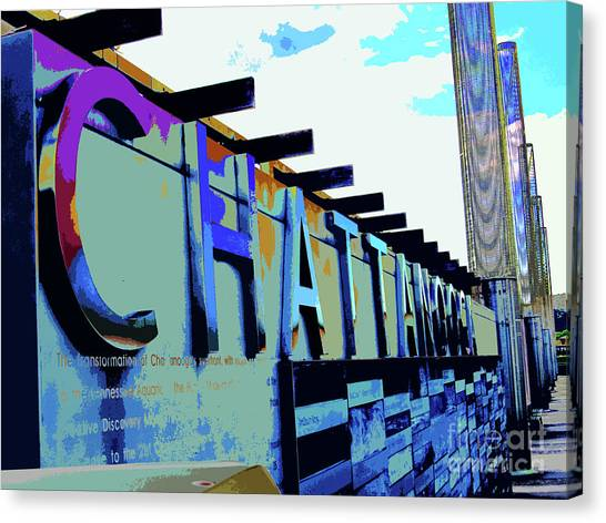Chattanooga Tennessee Sign Canvas Print