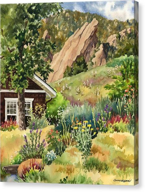 Colorado Canvas Print - Chautauqua Cottage by Anne Gifford