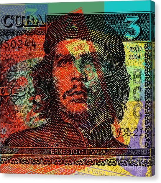 Che Guevara 3 Peso Cuban Bank Note - #1 Canvas Print