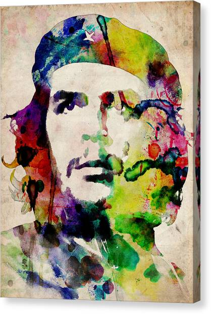 Urban Canvas Print - Che Guevara Urban Watercolor by Michael Tompsett