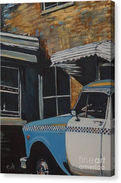Checker Cab Canvas Print